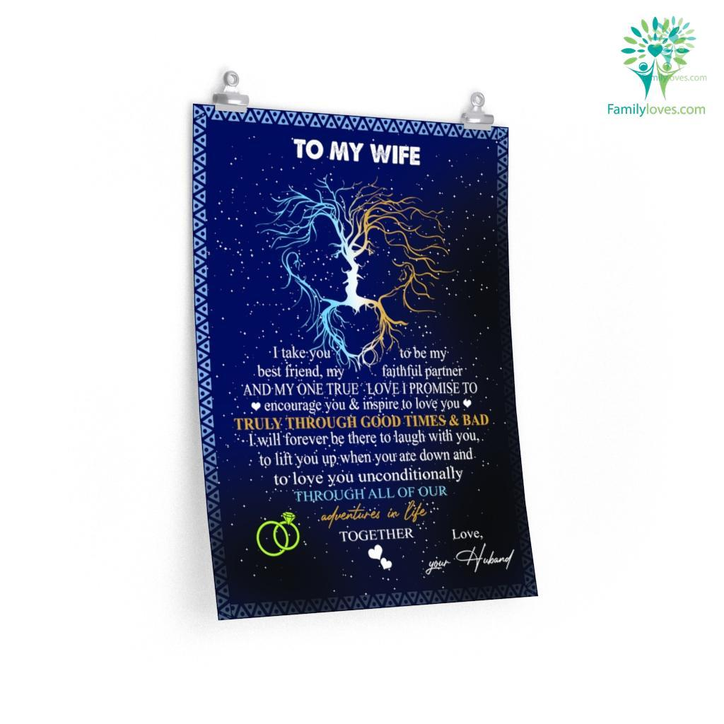 To My Wife I Take You To Be My Best Friend Love Husband For Sale Posters Familyloves.com