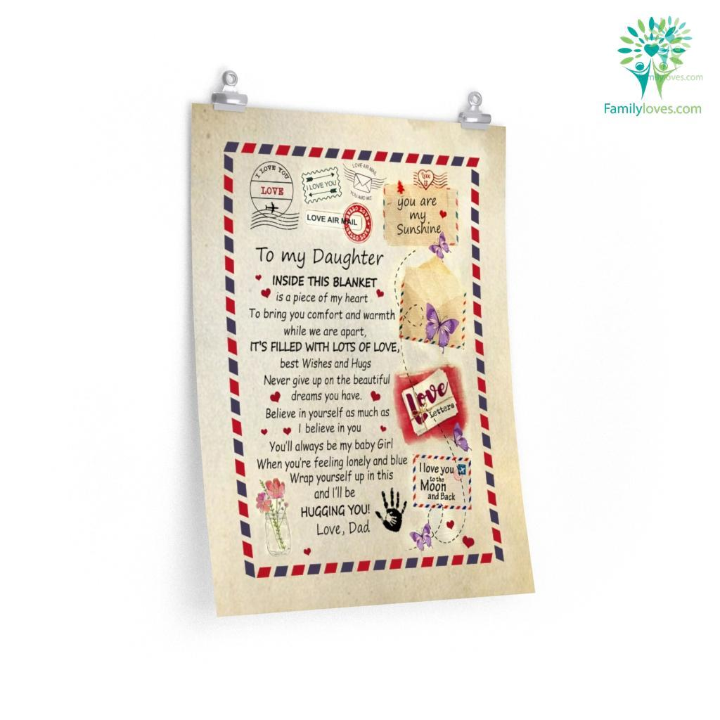Gift For Daughter Form Dlove Dletter To My Daughter Its Filled With Lots Of Love Posters Familyloves.com