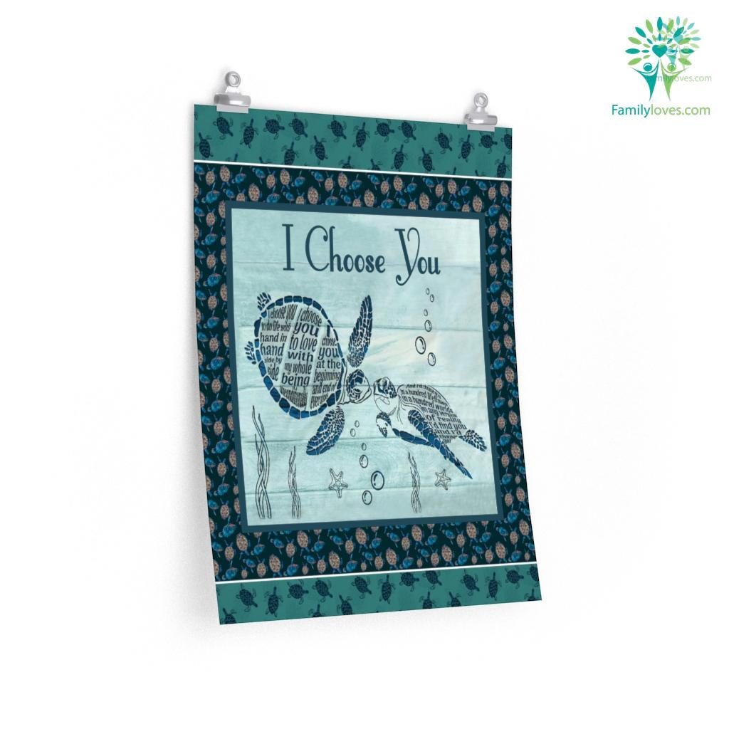 I Choose You Turtle Posters Familyloves.com
