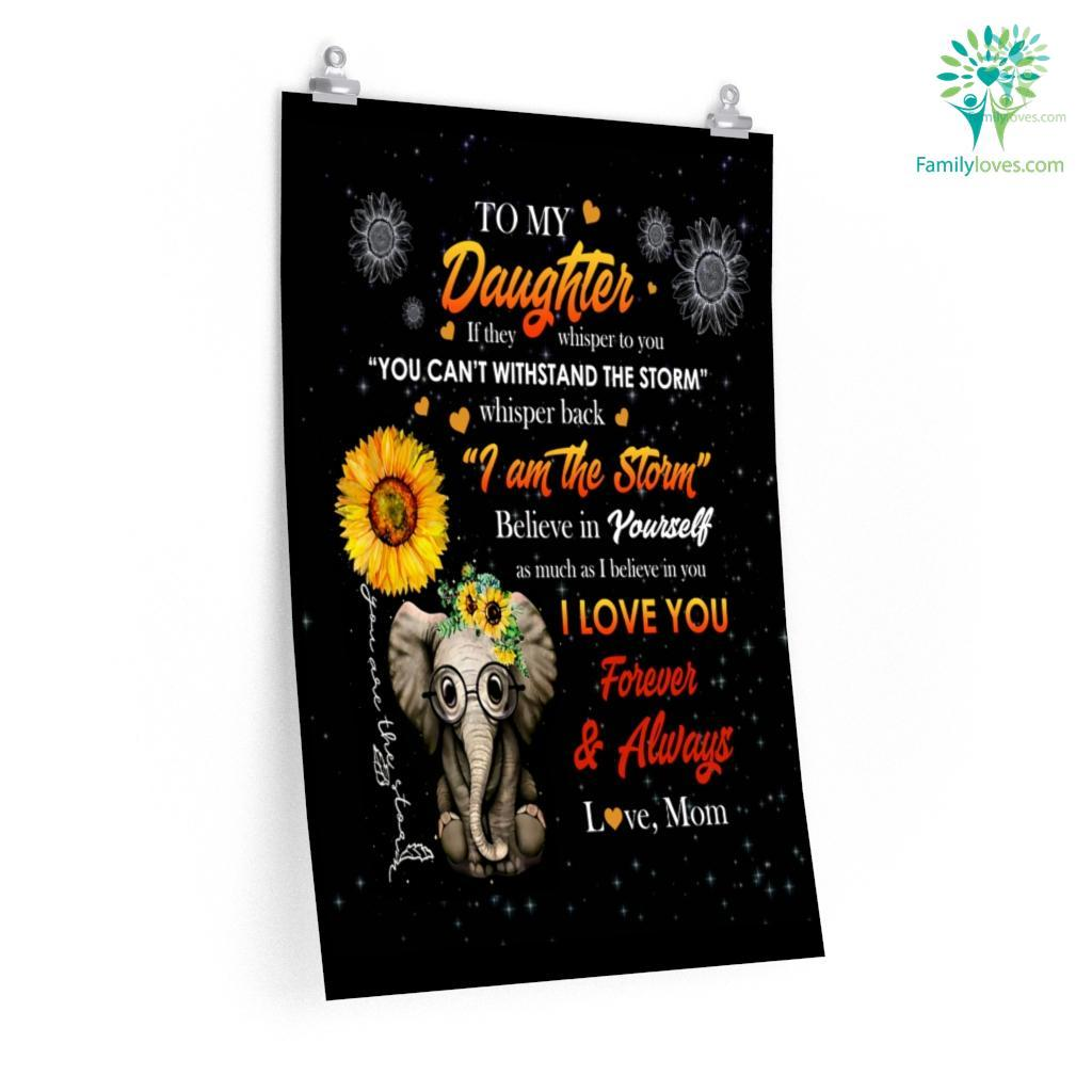 To My Elephant Daughter Love Mom Posters Familyloves.com