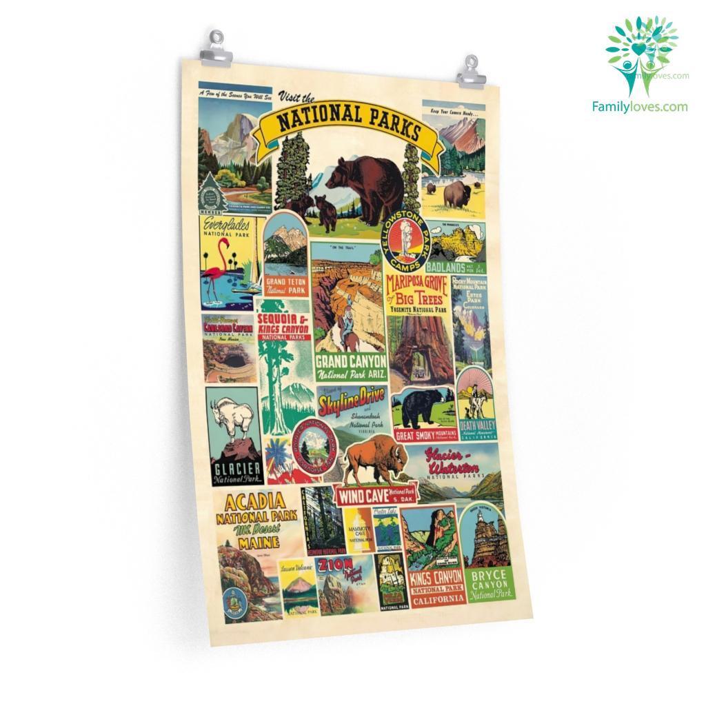 Visit National Parks Posters Familyloves.com