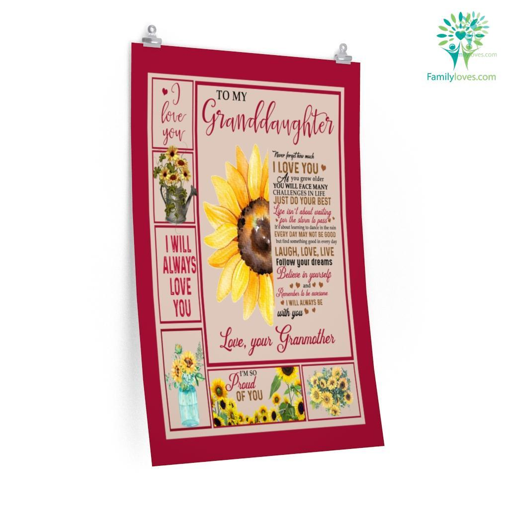 To My Granddaughter Never Forget How Much I Love You Love Grandmother Posters Familyloves.com
