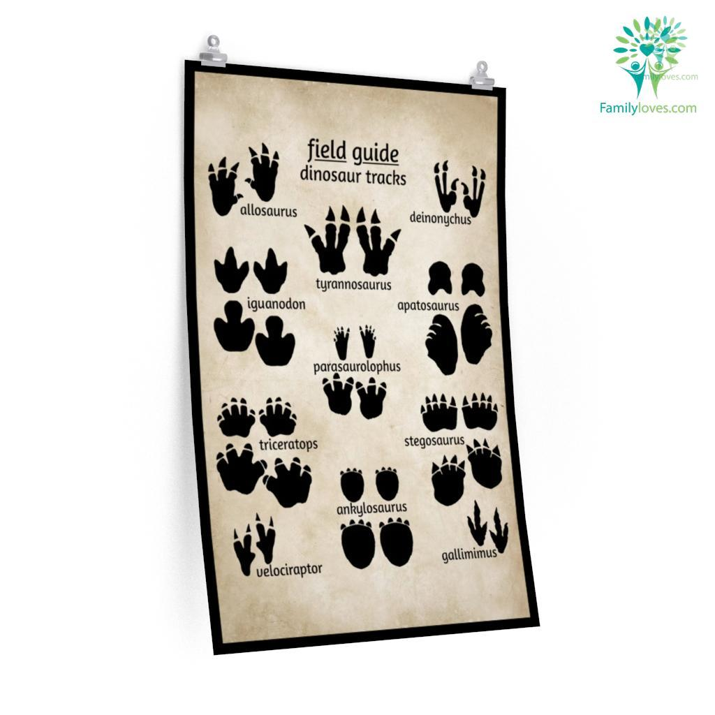 Field Guide Dinosaur Tracks Posters Familyloves.com