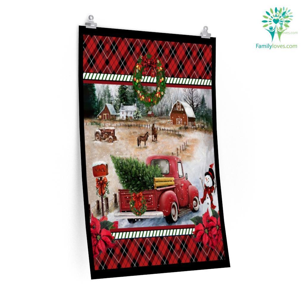 Merry Christmas Farmer Posters Familyloves.com