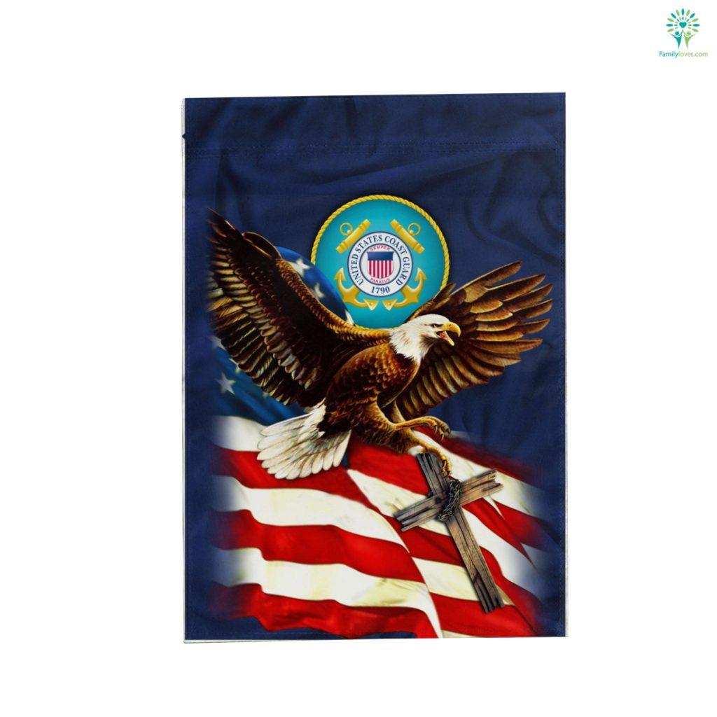 United States Coast Guard American Eagle Garden Flag Familyloves.com
