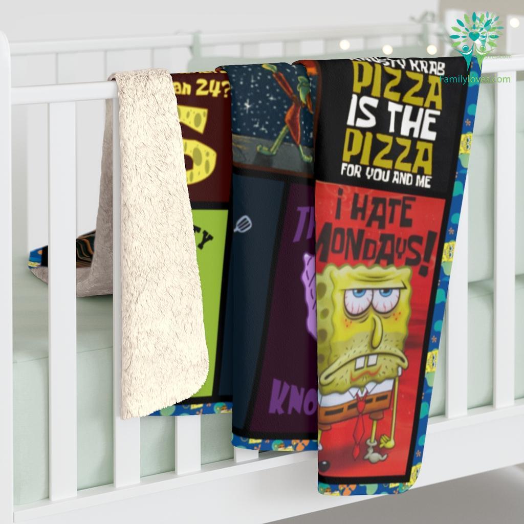 Spongebob Sherpa Fleece Blanket Familyloves.com