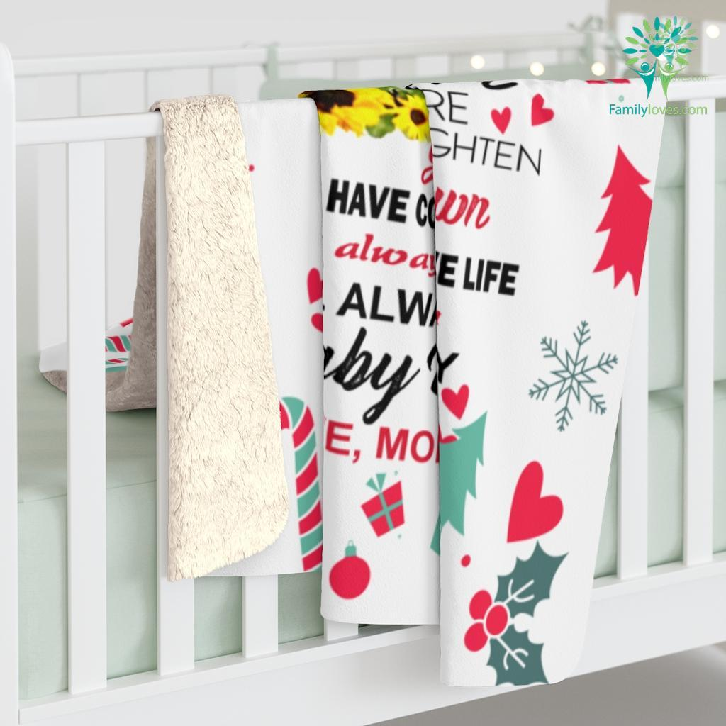 To My Son Love Mom Message Gift For Son Sherpa Fleece Blanket Familyloves.com