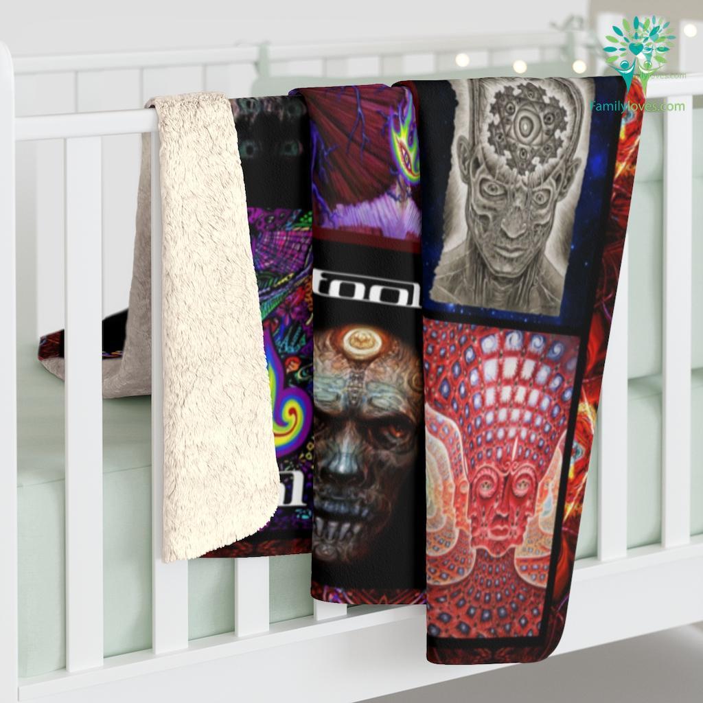 Tool Collage H Sherpa Fleece Blanket Familyloves.com