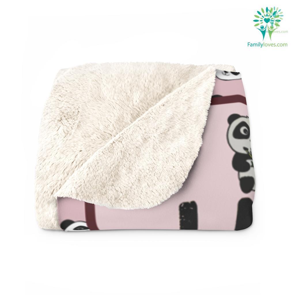 Panda Au O Sherpa Fleece Blanket Familyloves.com