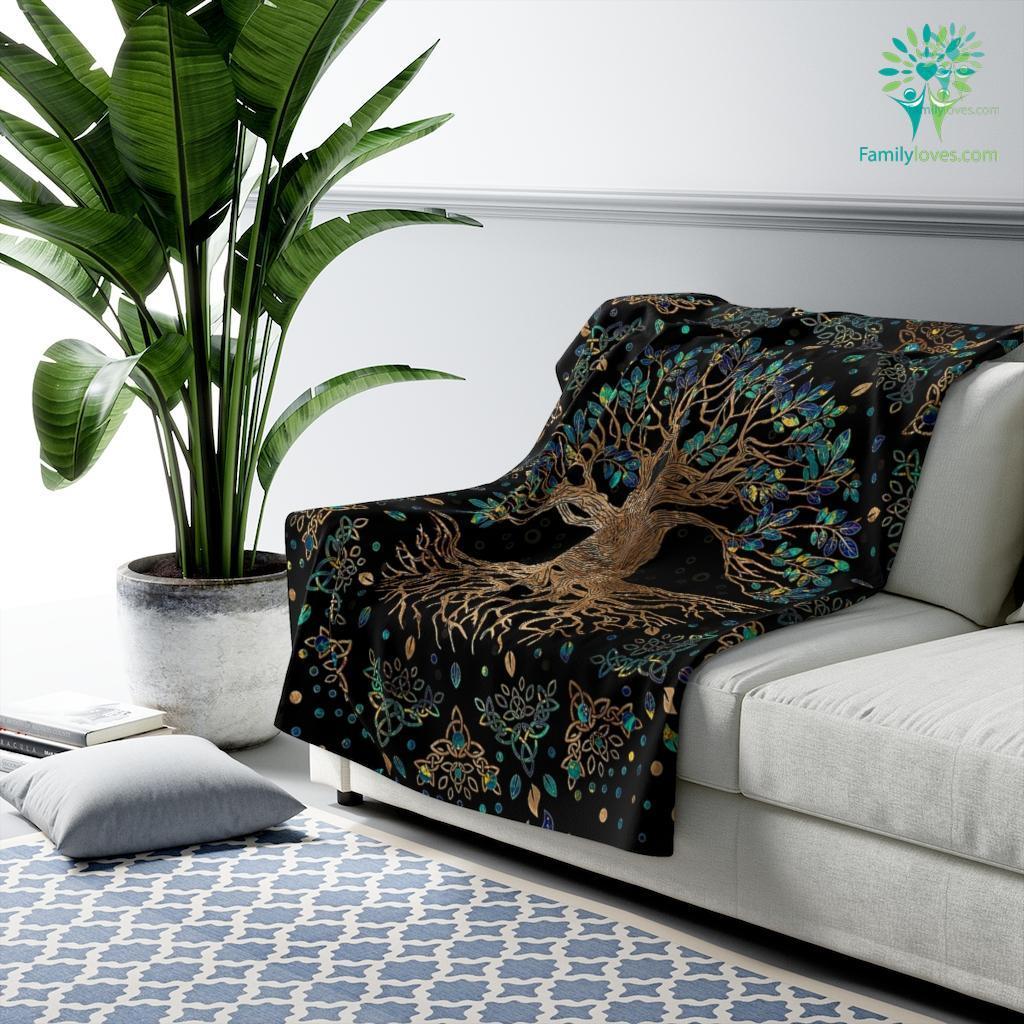Root Art For Sale Sherpa Fleece Blanket Familyloves.com