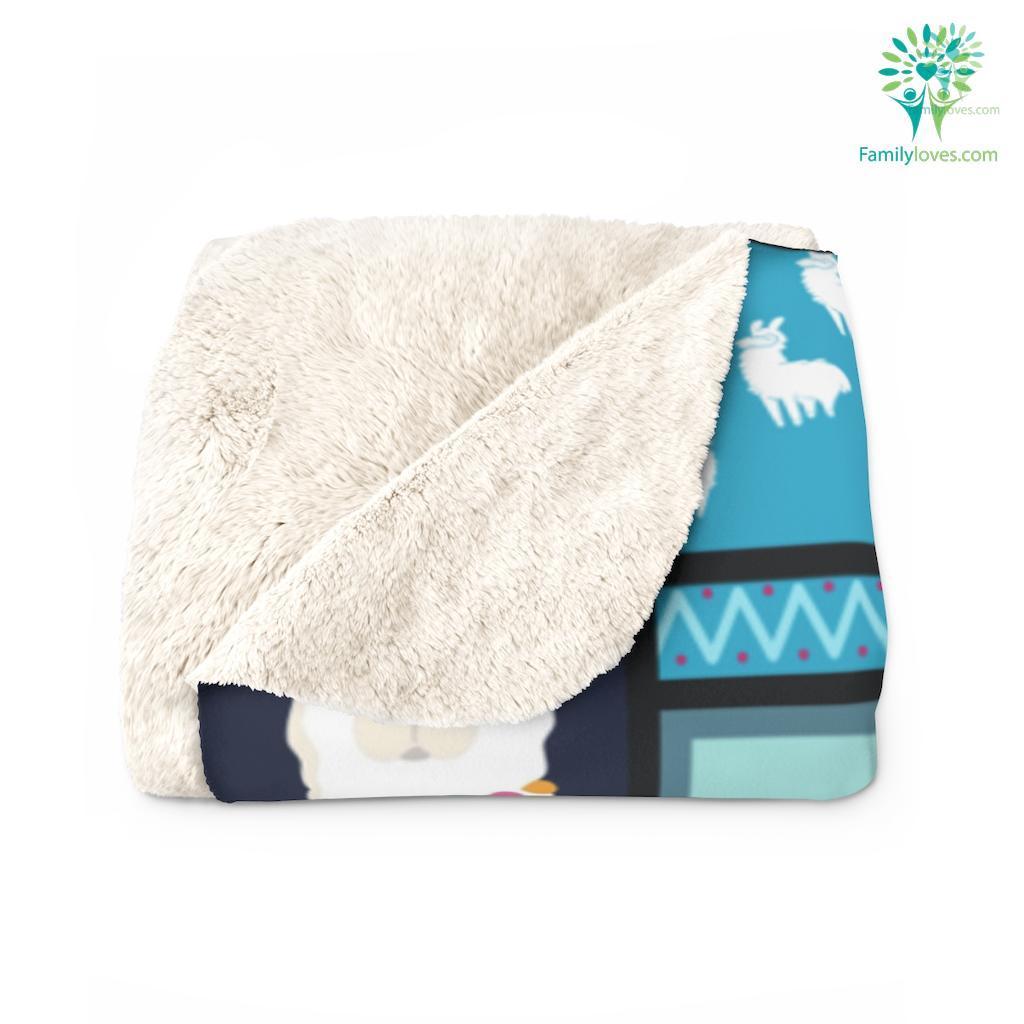 Llama Sep O Sherpa Fleece Blanket Familyloves.com