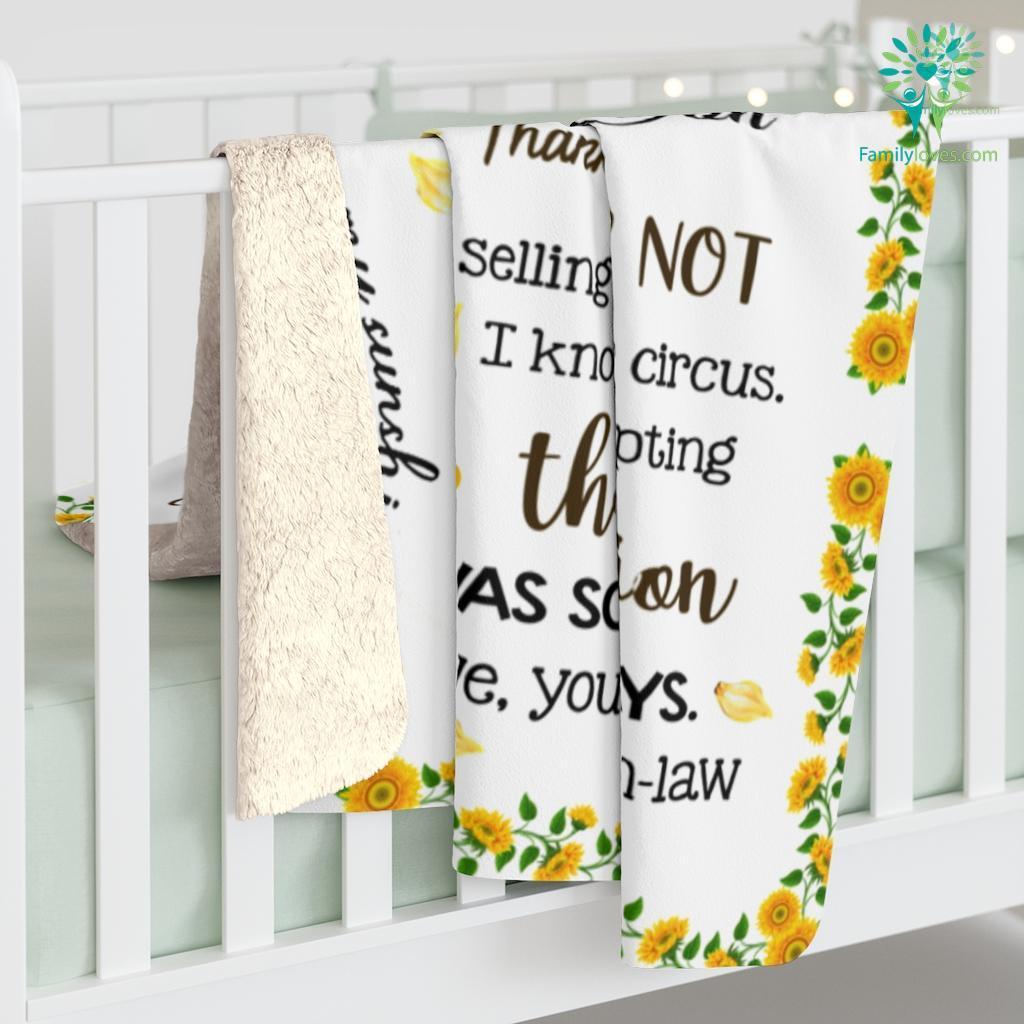 To My Dear Daughter In Law Love Mama In Law Sherpa Fleece Blanket Familyloves.com