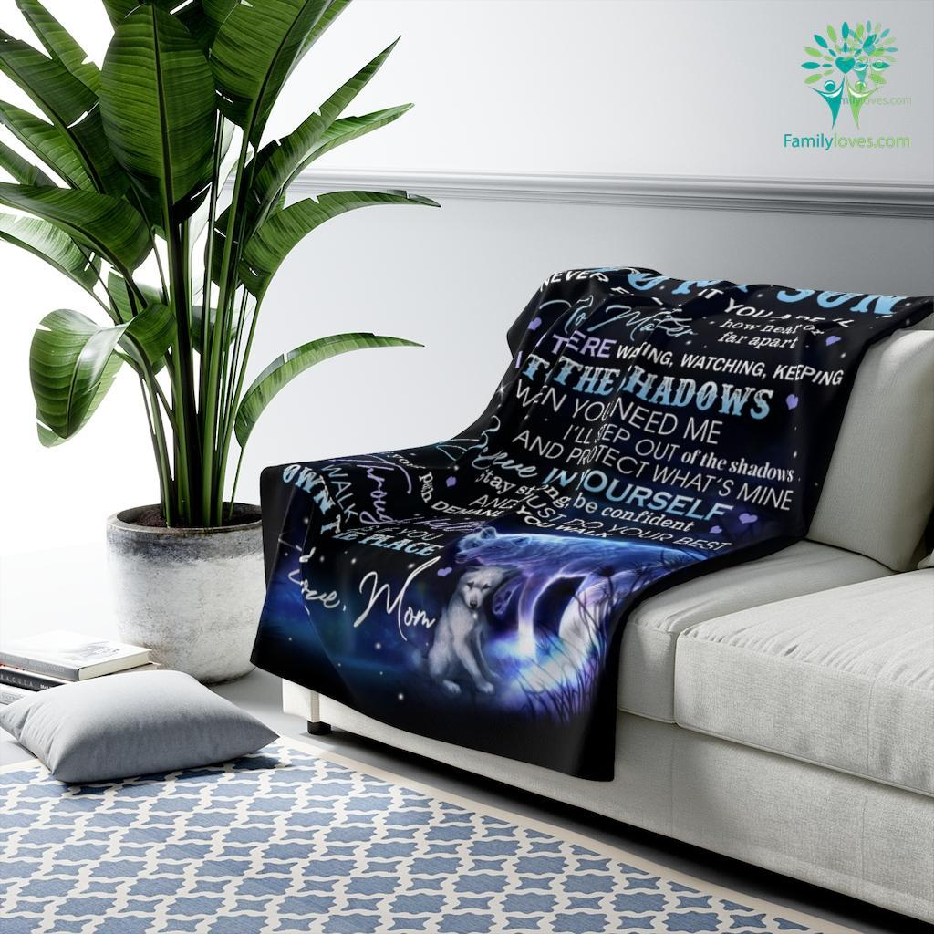 To My Son Never Fell That You Are Alone No Matter How Near Or Far Apart Sherpa Fleece Blanket Familyloves.com