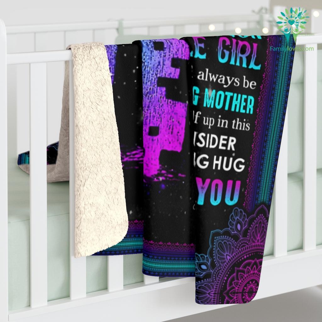 To My Mom I Know It'S Not Easy Sherpa Fleece Blanket Familyloves.com