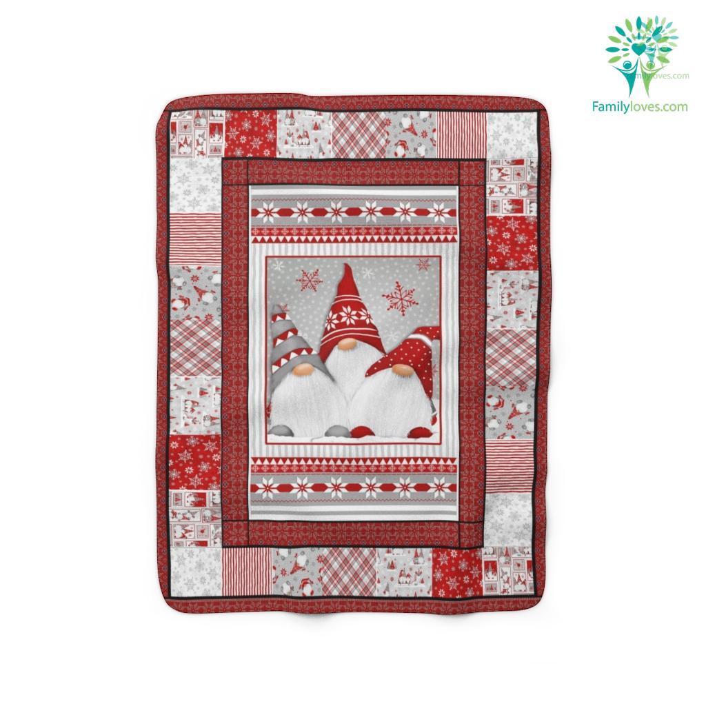 Mas Gnomes Anh Sherpa Fleece Blanket Familyloves.com