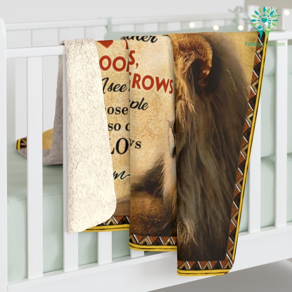 To My Son In Law Lion Sherpa Fleece Blanket Familyloves.com