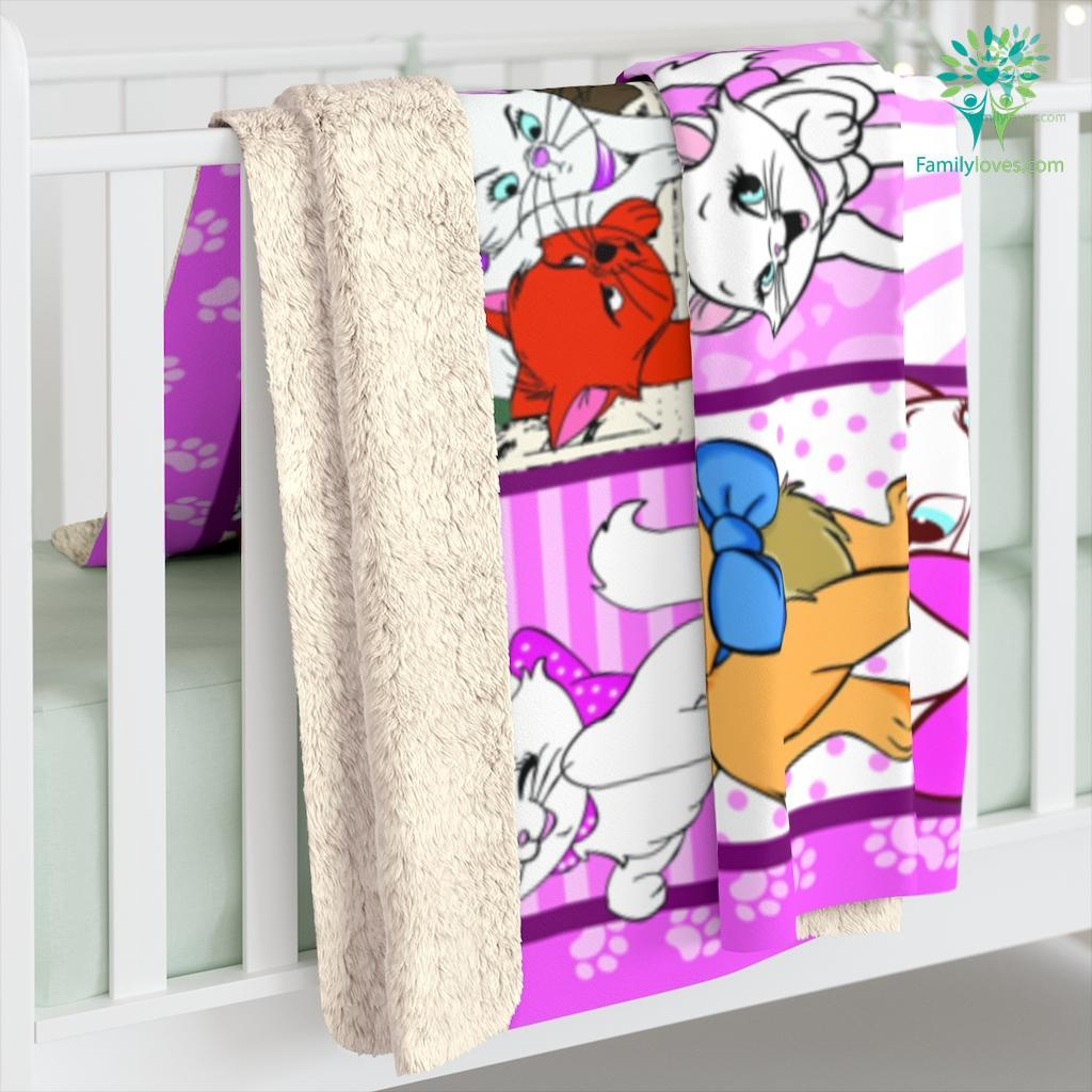 The Aristocats D Ver Sherpa Fleece Blanket Familyloves.com