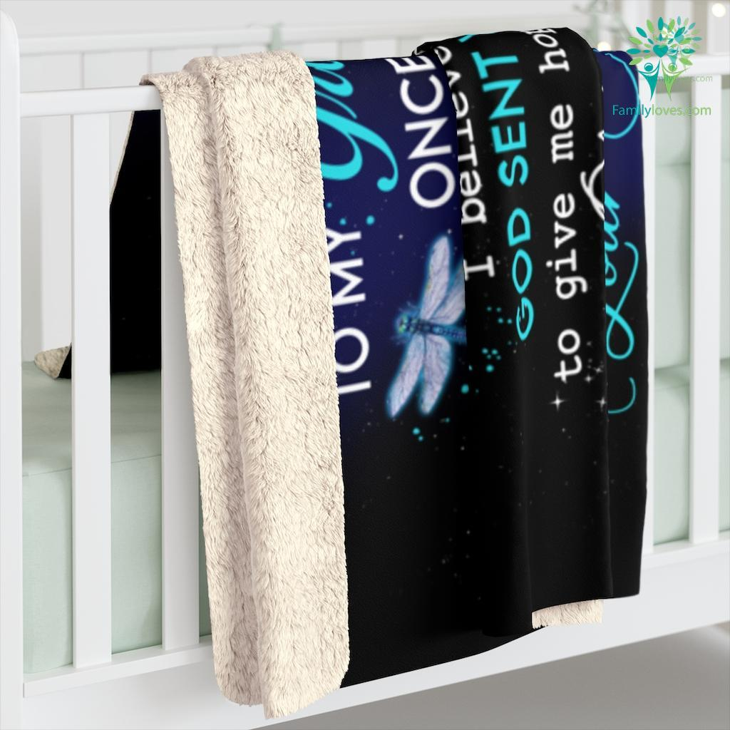 To My Granddaughter Once Upon A Time There Was A Little Girl Love Nana Sherpa Fleece Blanket Familyloves.com