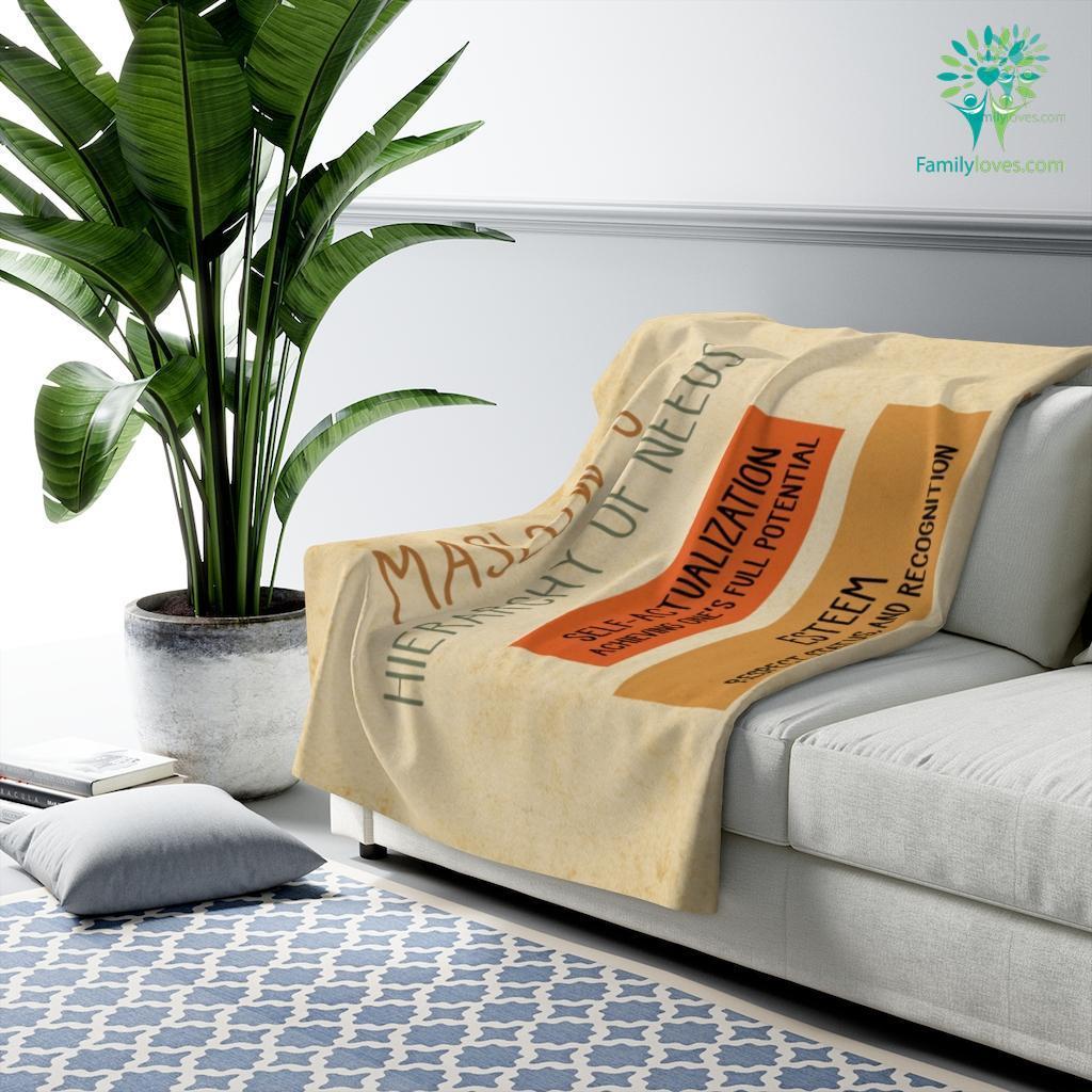 Maslow_S Herarchy Of Needs Sherpa Fleece Blanket Familyloves.com