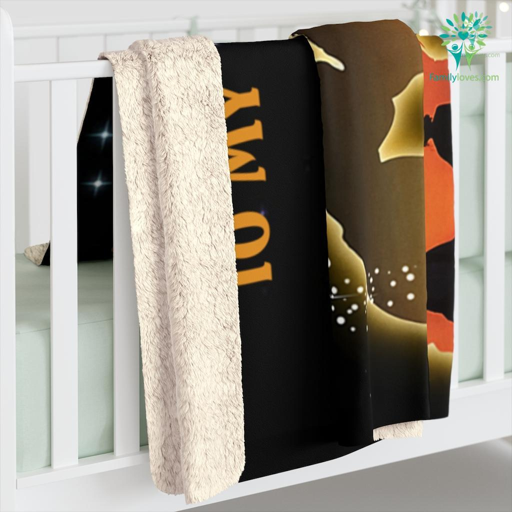 To My Wife I Didn'T Marry You So I Could Live With You Sherpa Fleece Blanket Familyloves.com