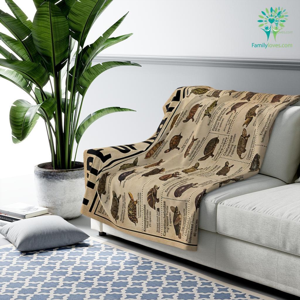 Type Of Turtles Canvas Sherpa Fleece Blanket Familyloves.com