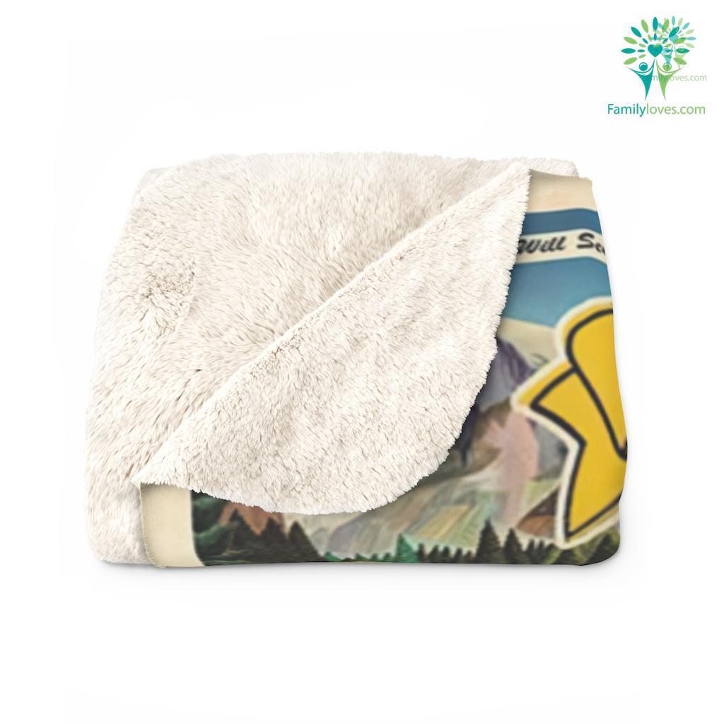 Visit National Parks Sherpa Fleece Blanket Familyloves.com