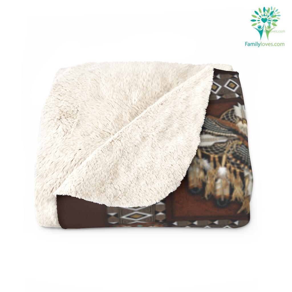 Native American Bedding Set Sherpa Fleece Blanket Familyloves.com
