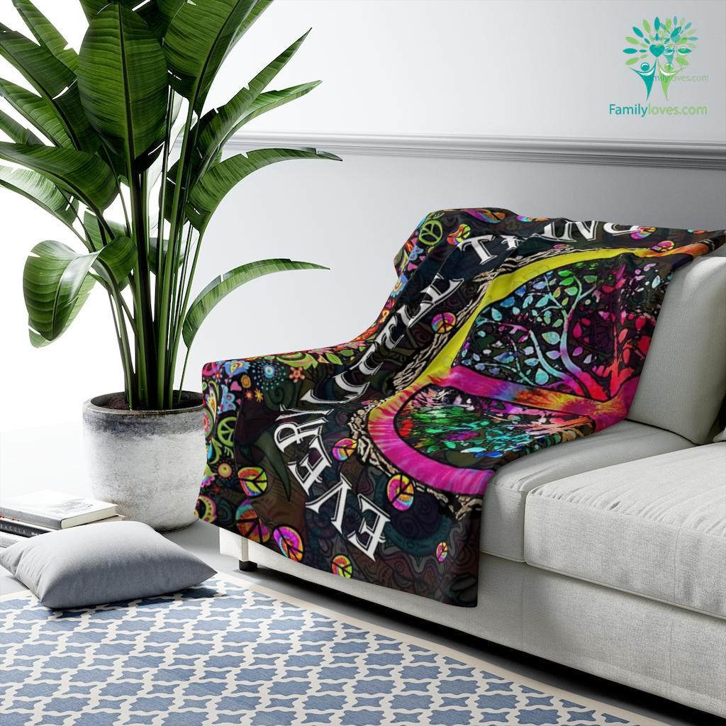 Every Little Thing Is Gonna Be All Right Sherpa Fleece Blanket Familyloves.com