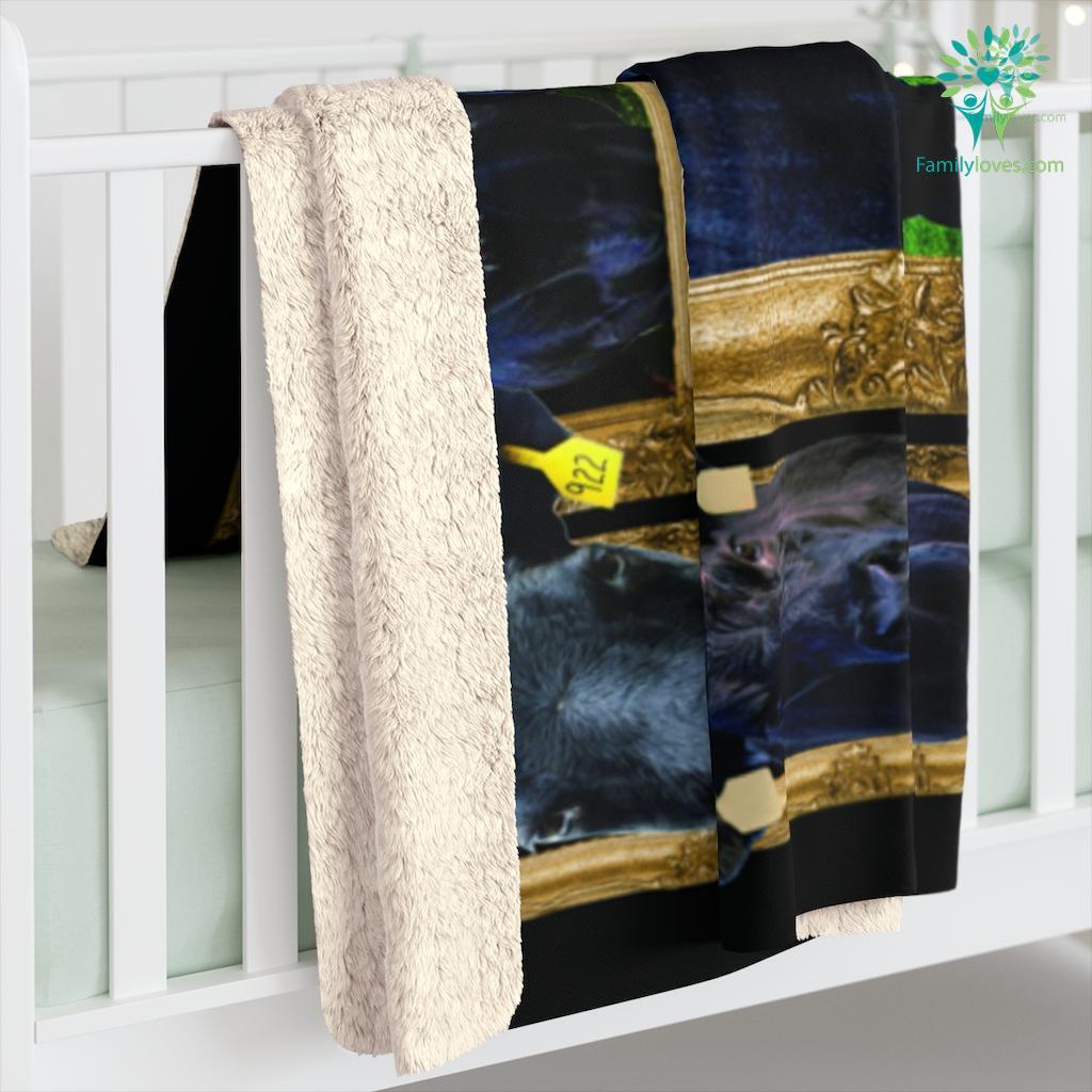 Black Angus Sherpa Fleece Blanket Familyloves.com