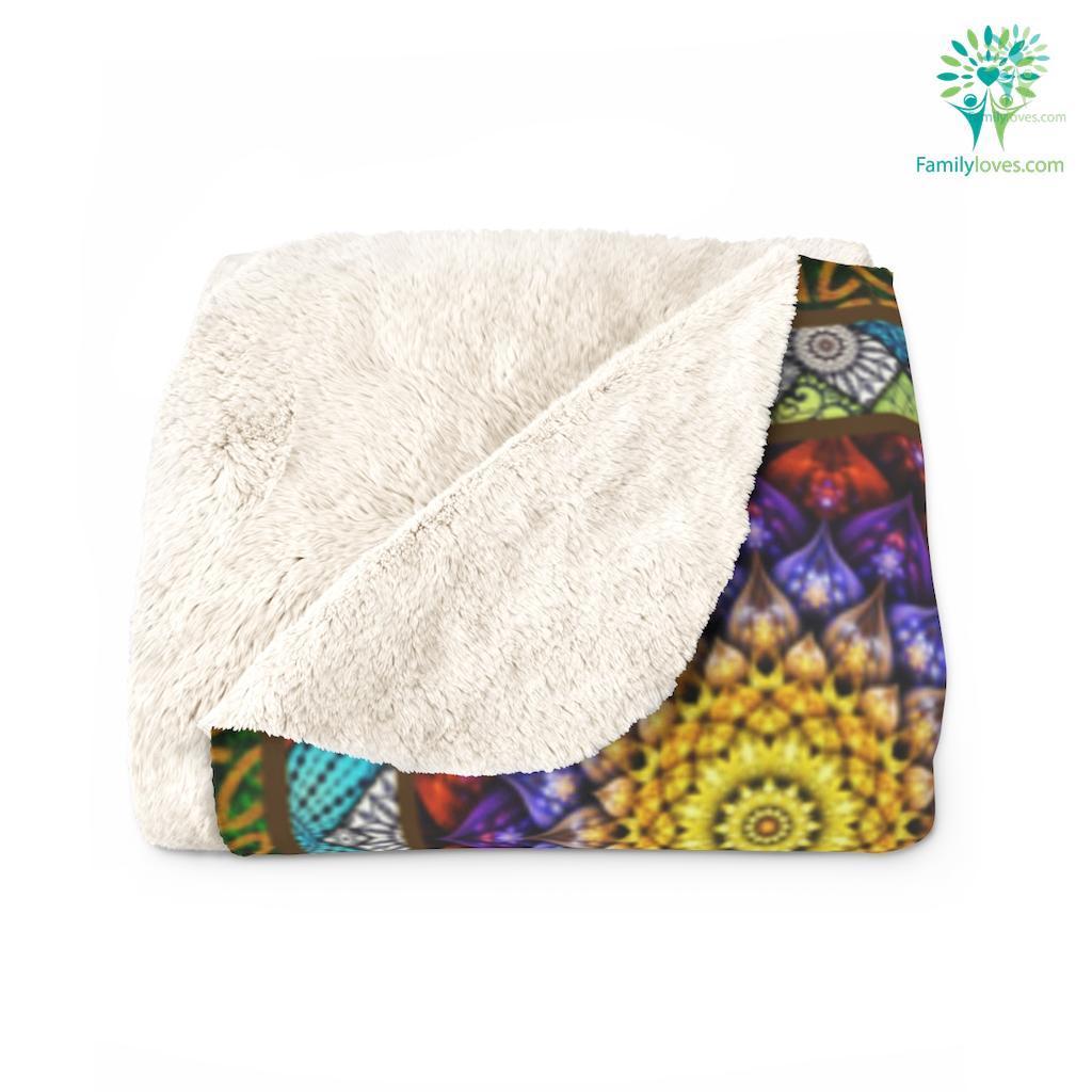 The Hamasa Sherpa Fleece Blanket Familyloves.com
