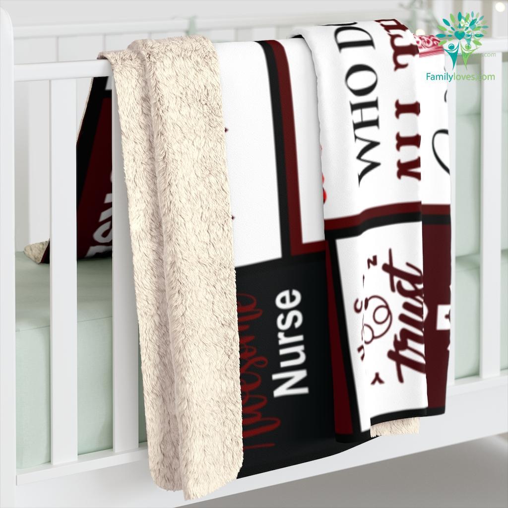 Nurse Sherpa Fleece Blanket Familyloves.com