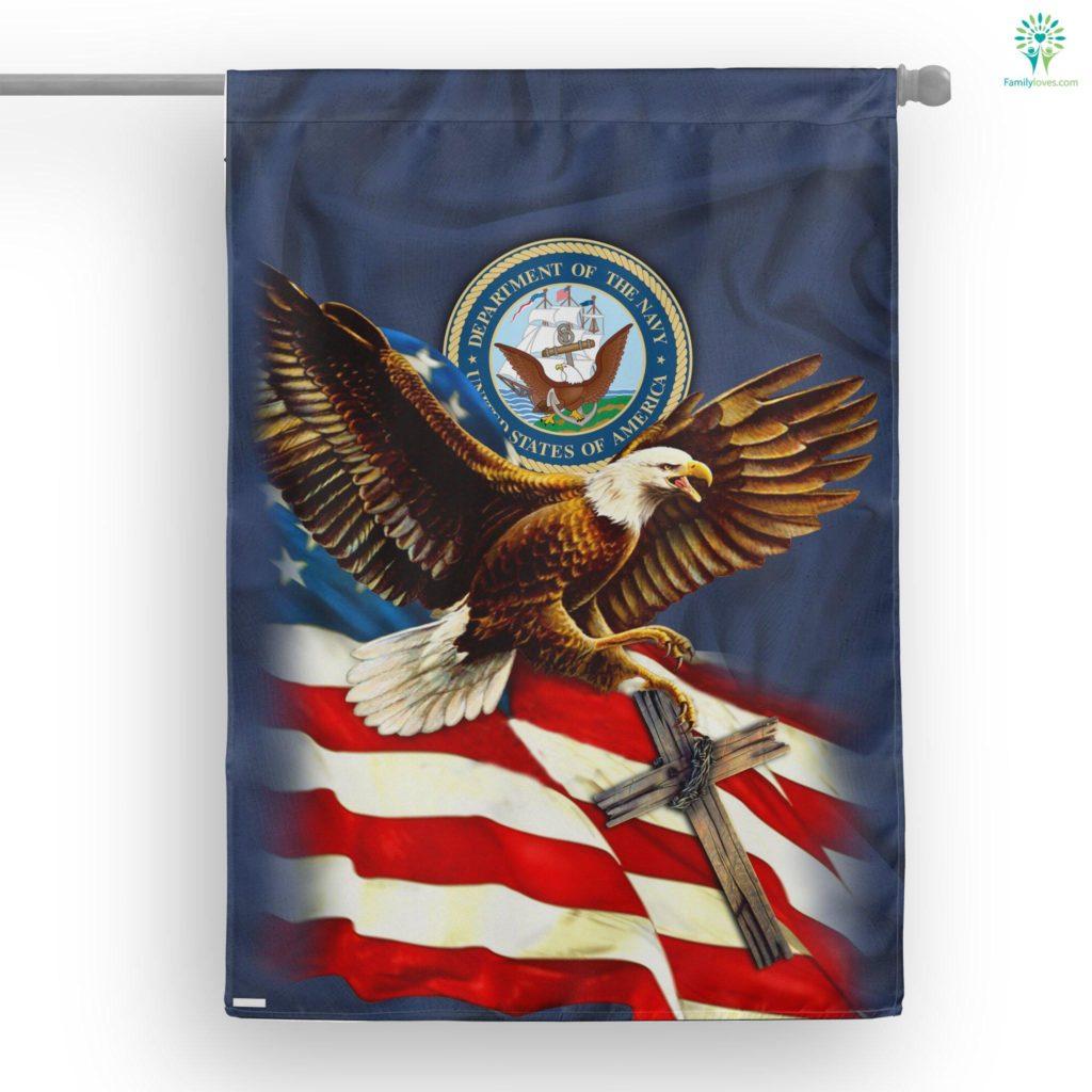 United States Navy American Eagle House Flag Familyloves.com