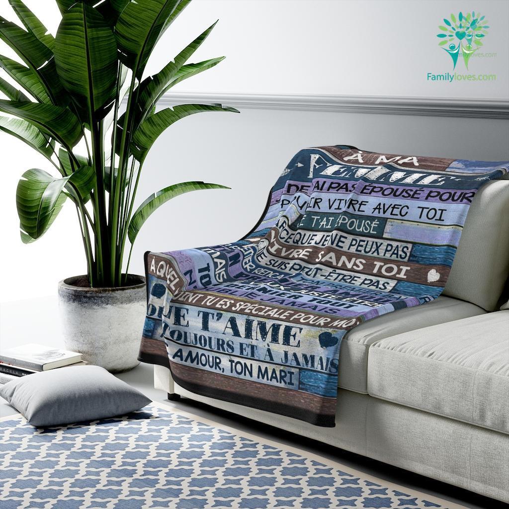 A Ma Femme Jene T_Ai Pas E_Pouse Pour Velveteen Plush Blanket Familyloves.com