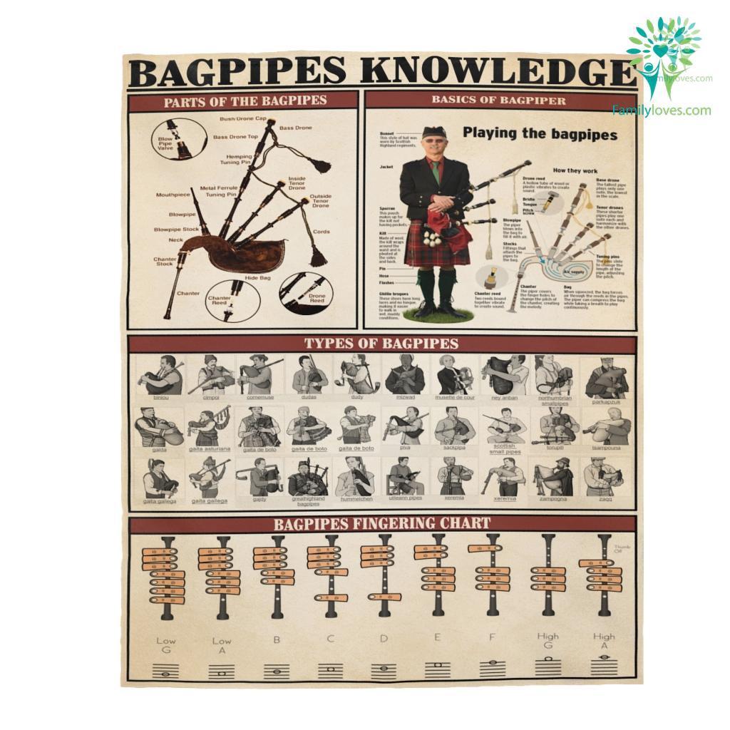 Bagpipes Knowledge Velveteen Plush Blanket Familyloves.com
