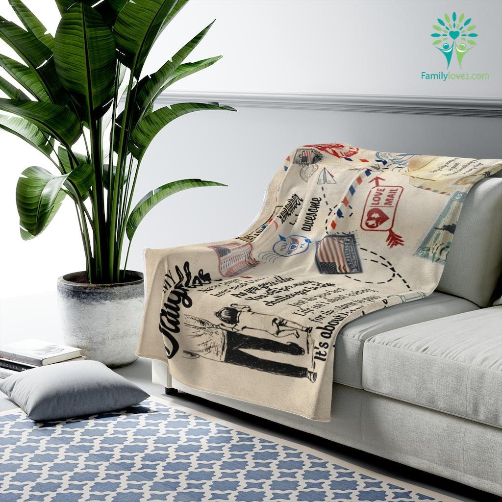 Nov Htth Gift For Daughter From Dair Mail Remember To Be Awesome Velveteen Plush Blanket Familyloves.com
