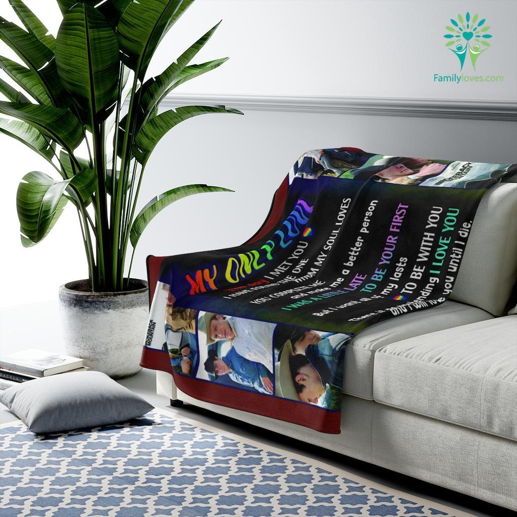 To My Love Brokeback Mountaint Velveteen Plush Blanket Familyloves.com