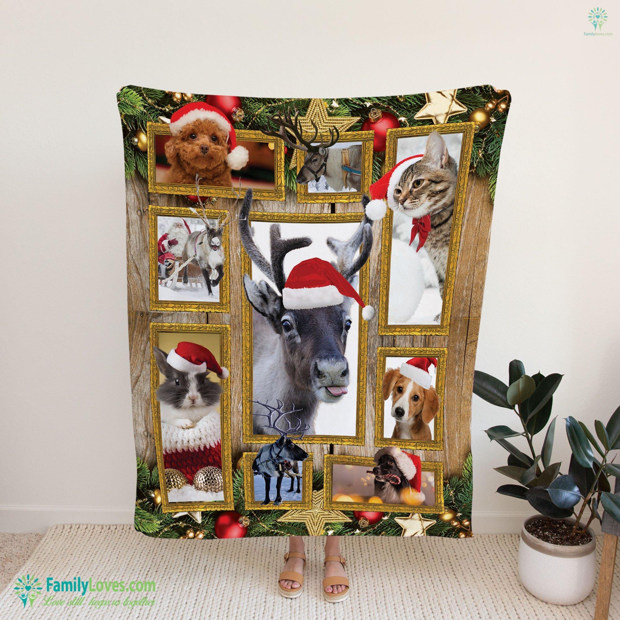 Animal Christmas Blanket 2 Familyloves.com