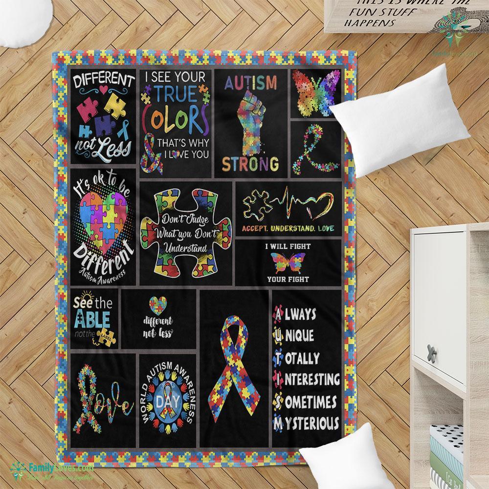 Autism Awareness Th Blanket 15 Familyloves.com