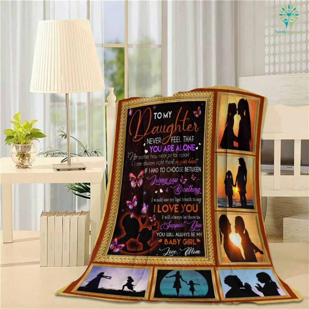 B Daughter D Velveteen Plush Blanket Familyloves.com