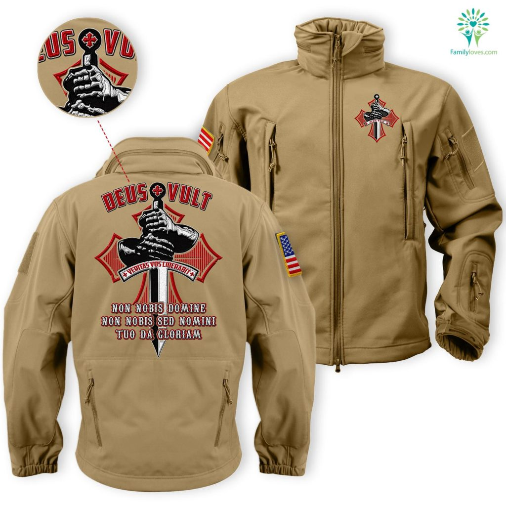 Deus Vult Solf Sell Embroidered Jacket Free Shipping