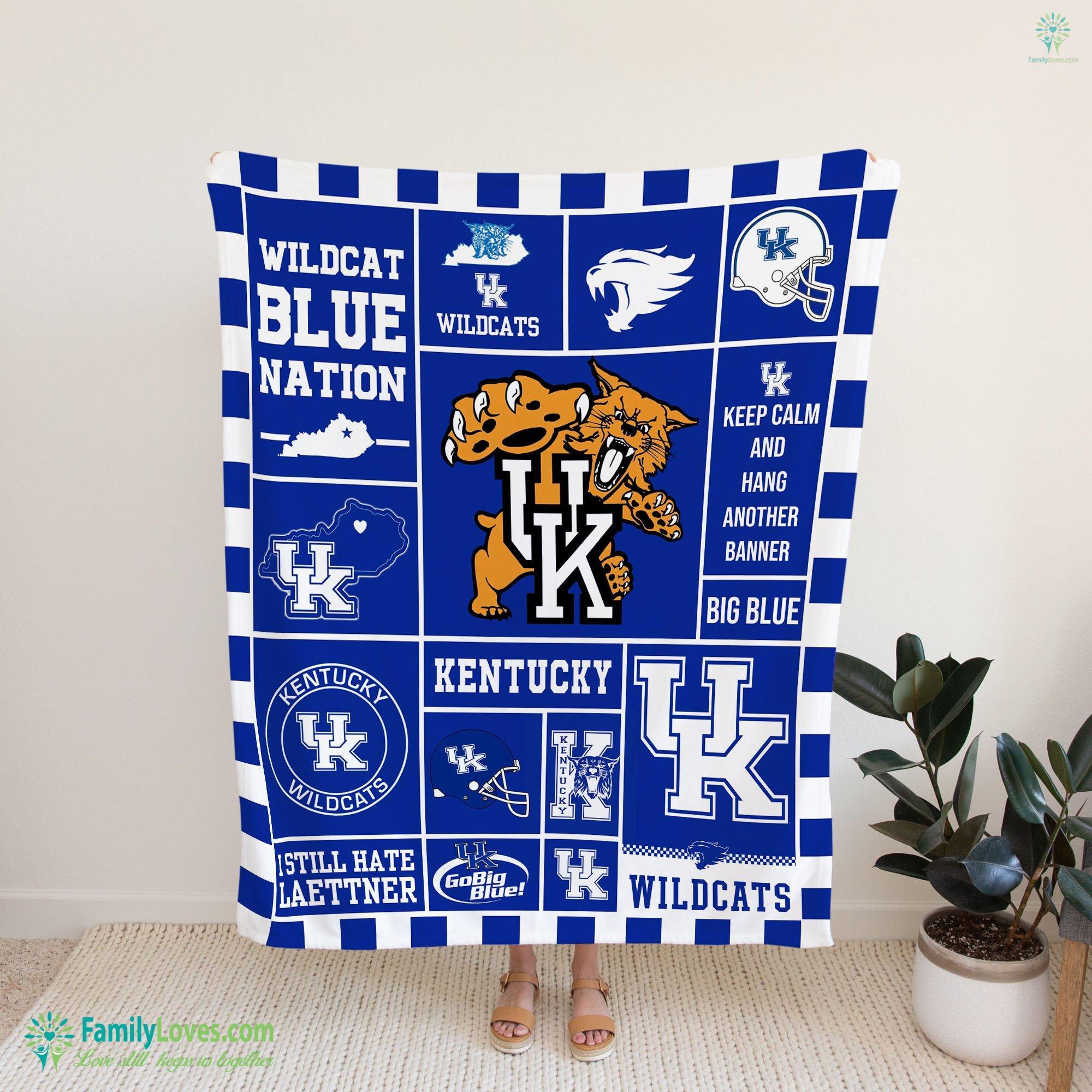 B Kentucky Wildcat Blanket 16 Familyloves.com