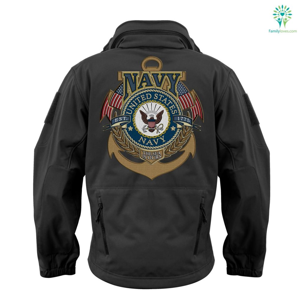Us Navy Logo Soft Shell Tactical Embroidered Jacket