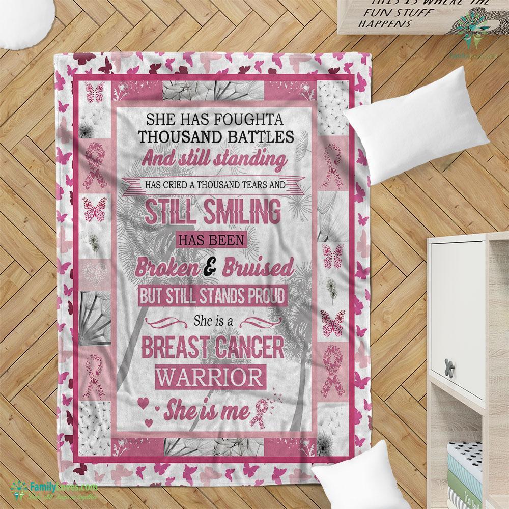 Breast Cancer Warrior Dk Blanket 9 Familyloves.com