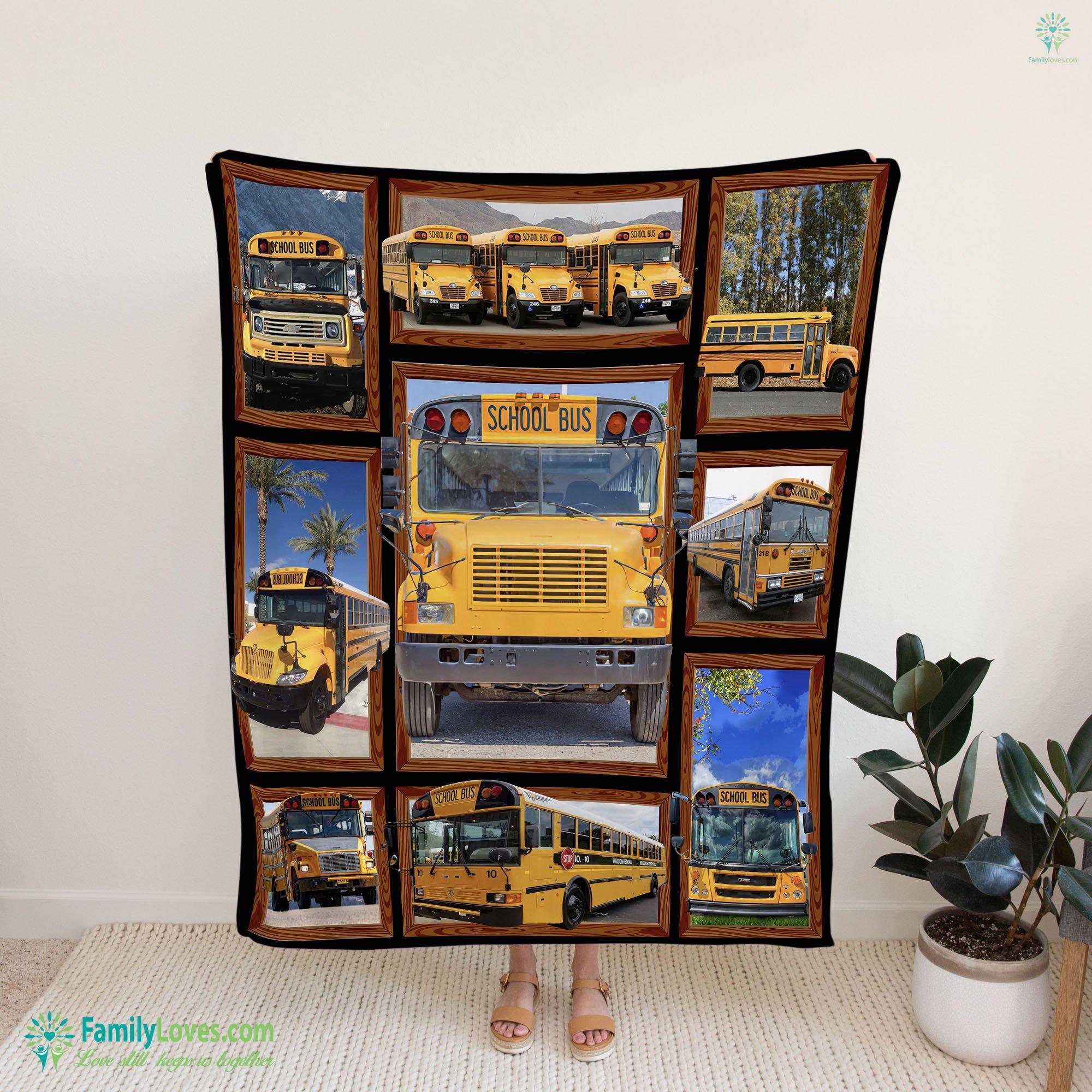 Bus Drivers School Bus Blanket 21 Familyloves.com