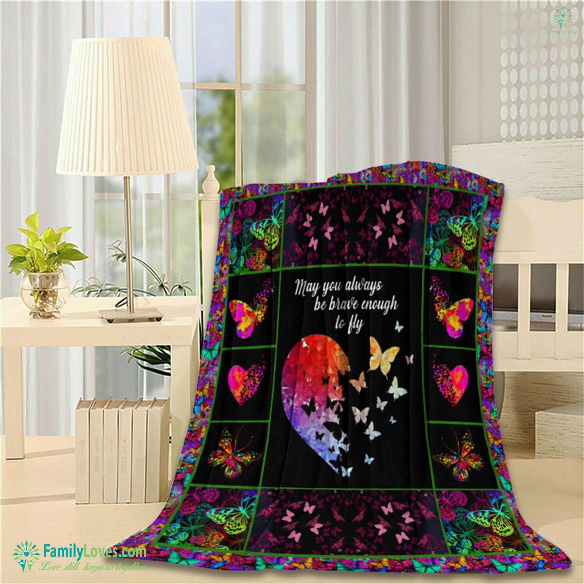 Butterfly H Blanket 14 Familyloves.com