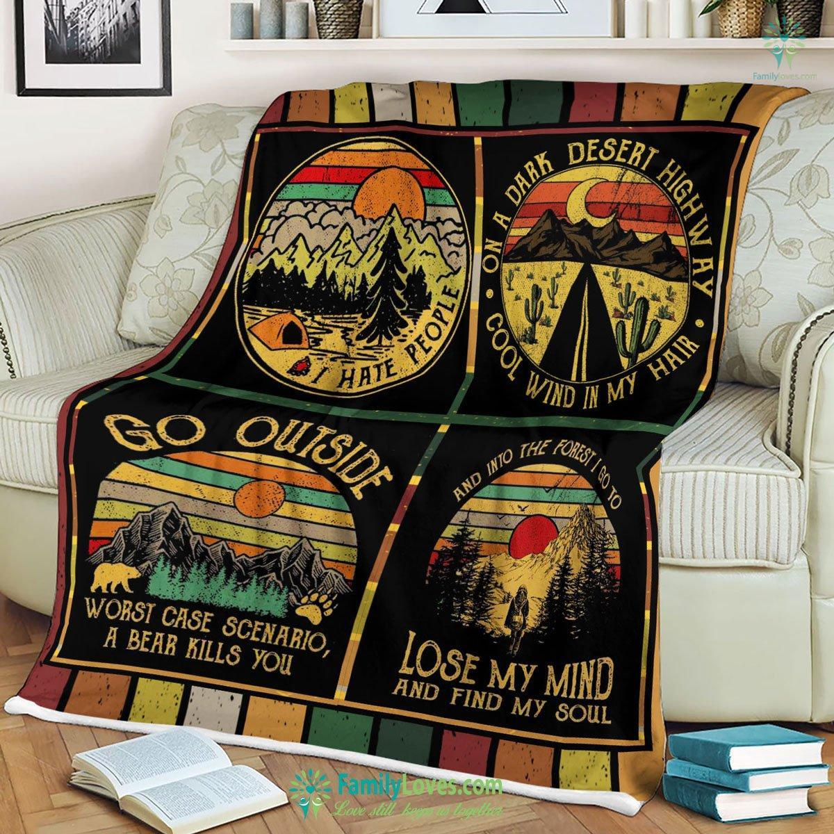 Camping Vintage Blanket 8 Familyloves.com