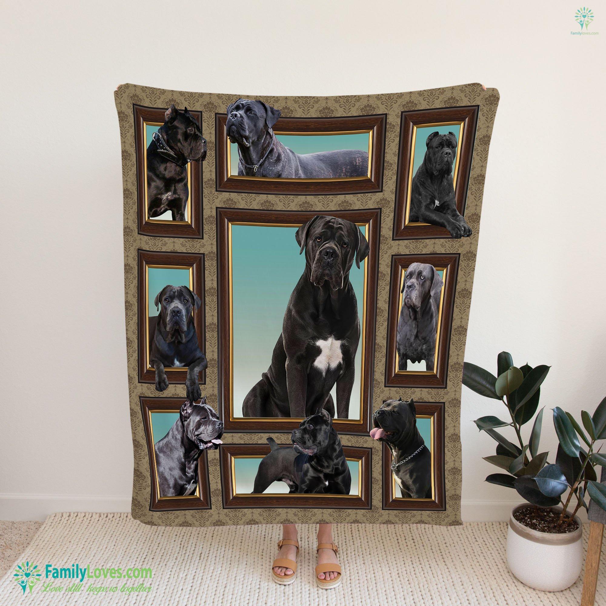 Cane Corso Frame Blanket 10 Familyloves.com