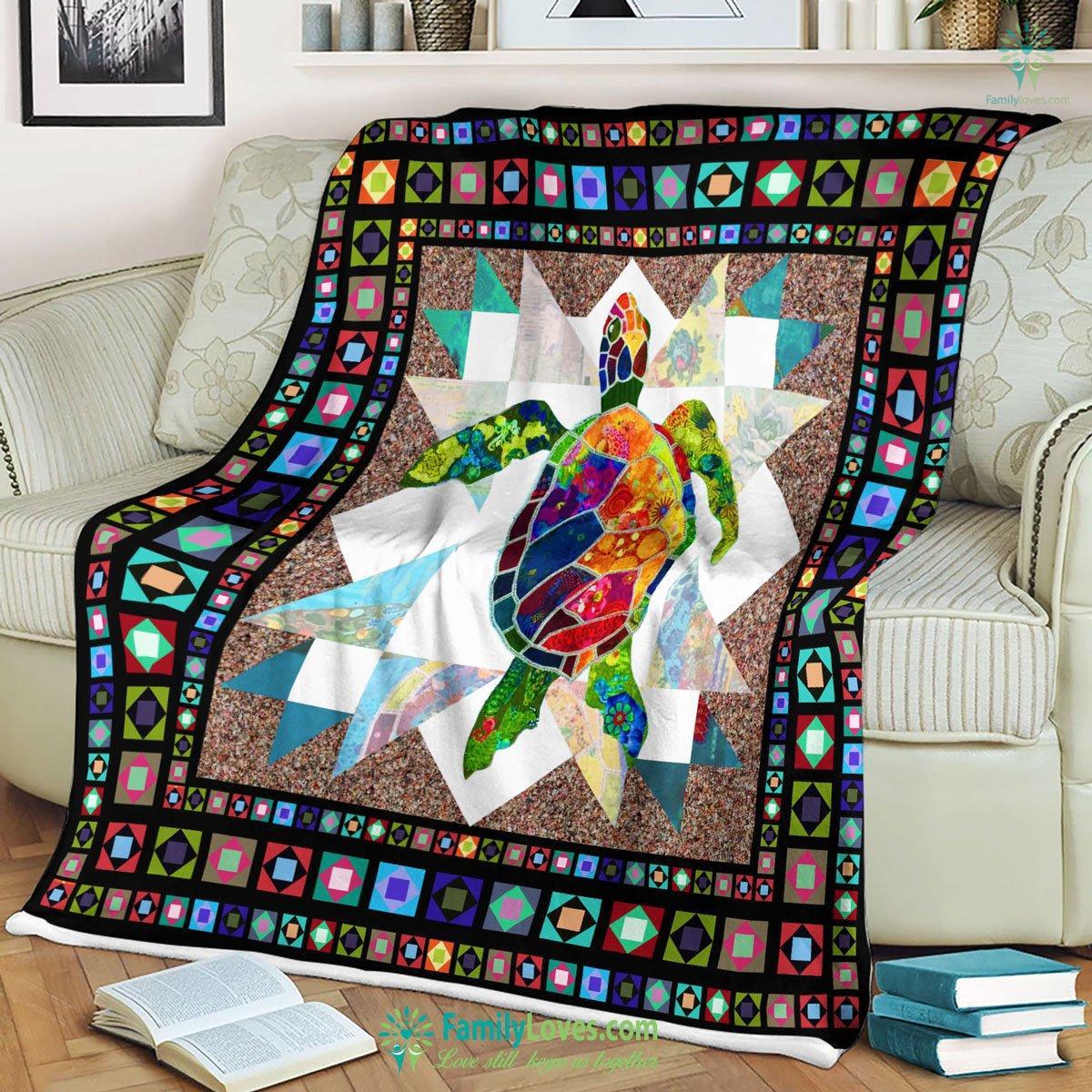 Colorful Sea Turtle Blanket 14 Familyloves.com
