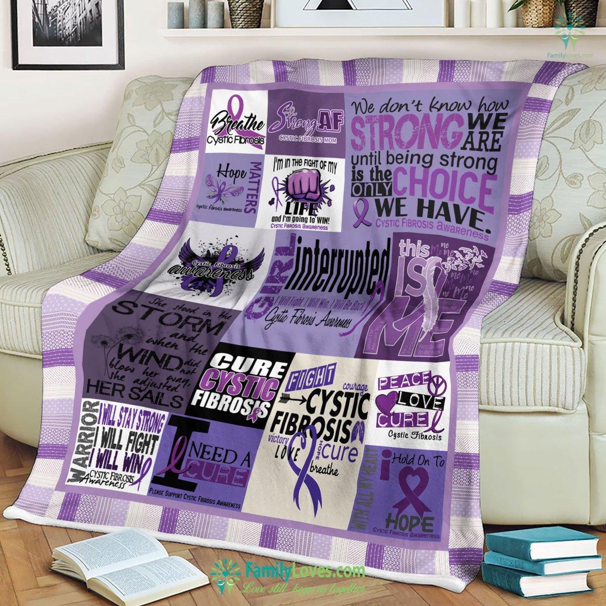 Cystic Fibrosis Awareness Blanket 12 Familyloves.com