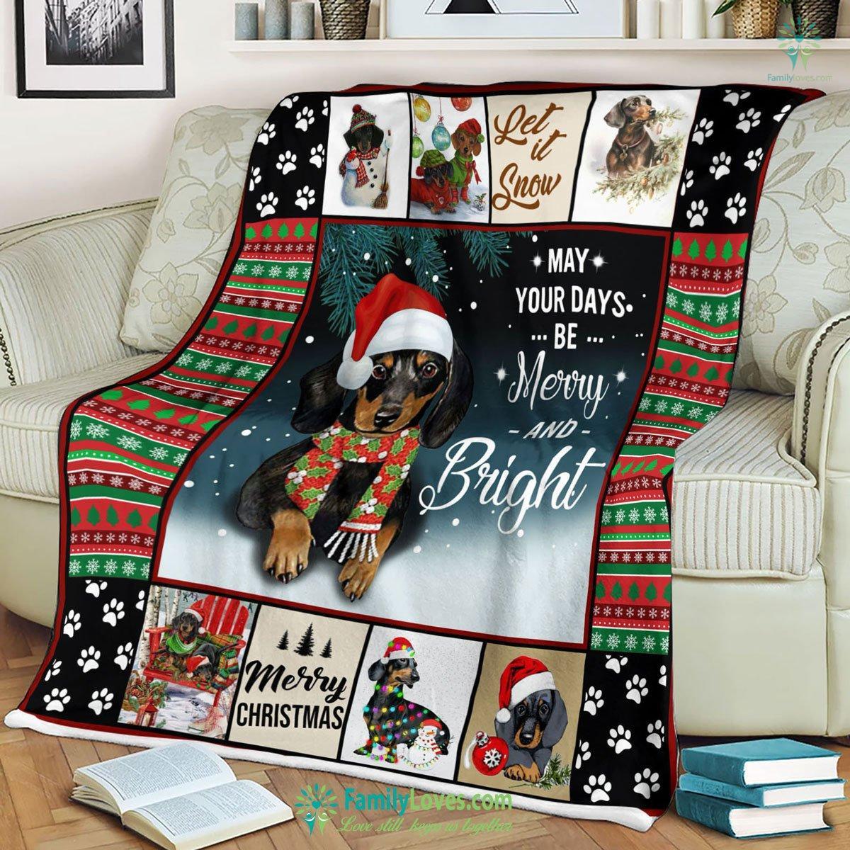 Dachshund Blanket 2 Familyloves.com